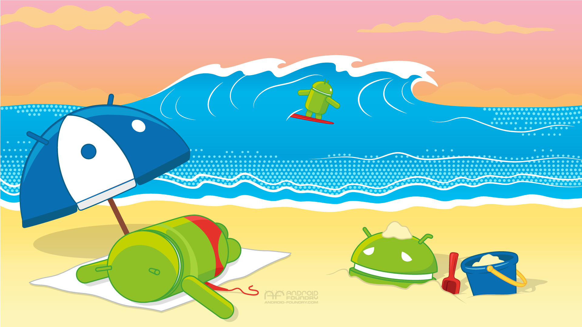 061914 Android BeachDay Wallpaper