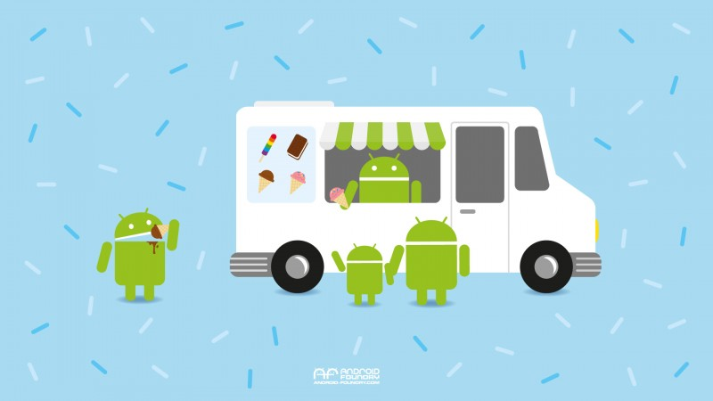 Android Ice Cream Month wallpaper