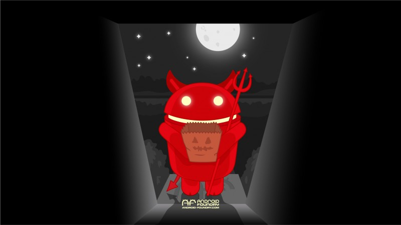 Android Foundry Halloween Wallpaper