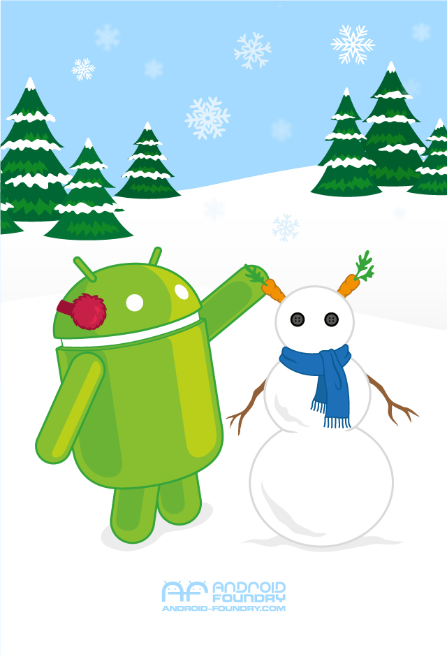 Android Winter Wallpaper Released Geek News Central